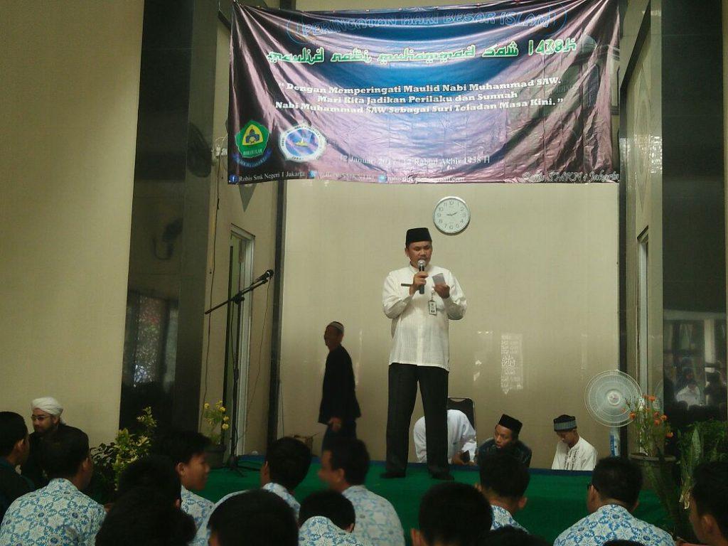 Sambutan Kepala Sekolah SMKN 1 Jakarta Drs. Asep Supriatna Hadiri.